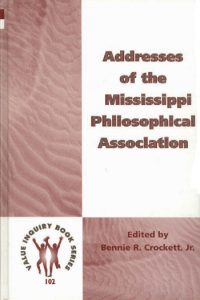 Address of the Mississippi Philosophical Association
